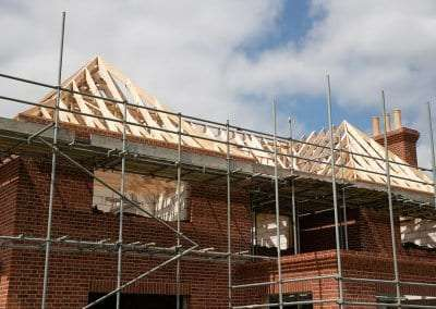 A new build with timber trusses